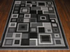 Modern Approx 6x4ft 120x170cm Woven Rug Sale Top Quality Grey-Black panels